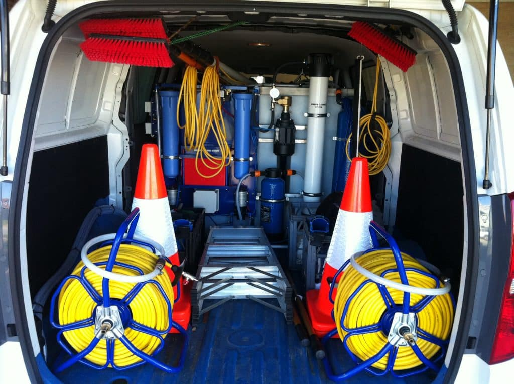 pure water technology system displayed in a van